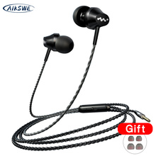 3.5mm Heavy Bass TPE Wired In-Ear Earphones With Mic Earpiece Comforted Earbud Volume Control Stereo Sport Headset For PC 2020 newest wired earphones in ear super bass earbud headphone with mic for samsung phones sport stereo headset