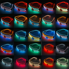 Led-Glasses Night-Sunglasses-Decor Halloween Rave for Birthday-Party Christmas Light-Up