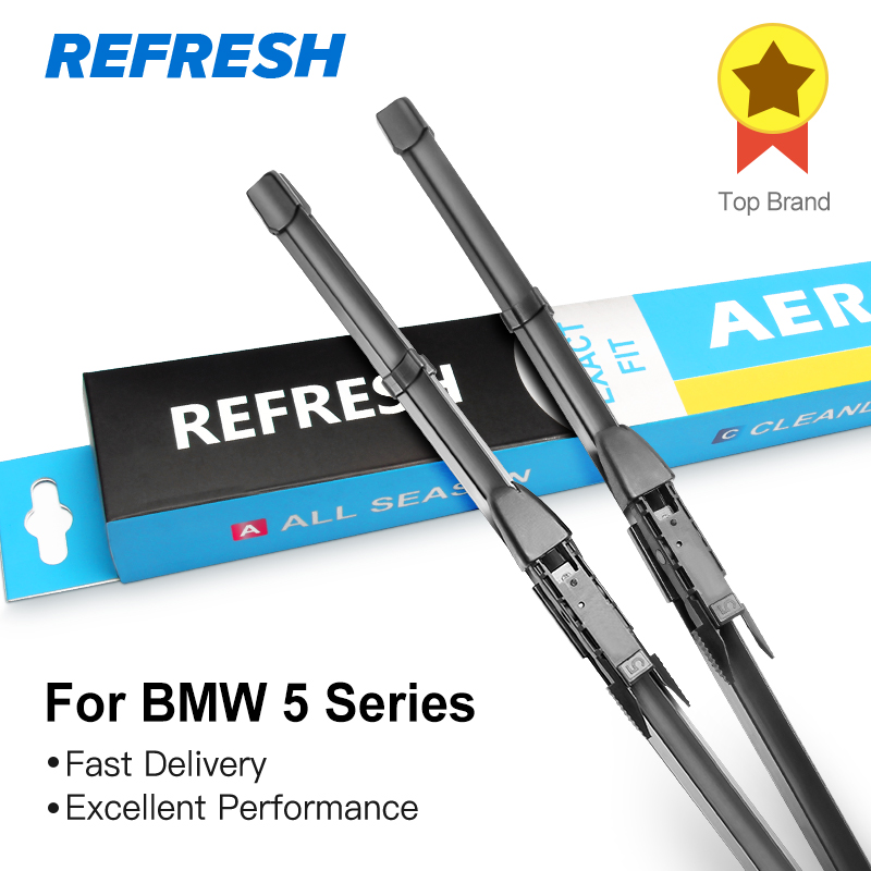REFRESH Wiper Blades for BMW 5 Series E39 E60 E61 F07 F10 F11 G30 G31 520i 523i 525i 528i 530i 535i 518d 520d 525d 530d 535d