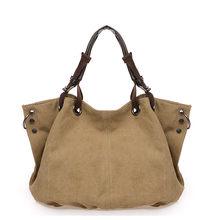 European and American fashion canvas large capacity one - shoulder handbag, casual slant bag