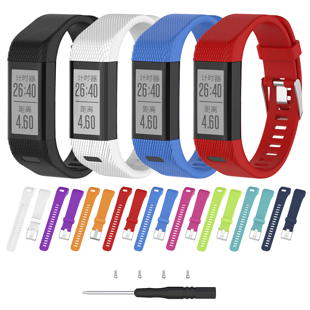 Strap Wrist Band For Garmin Vivosmart HR+ Plus Wristband Sport Fitness Replacement Accessories Multicolor Silicone Watch Band