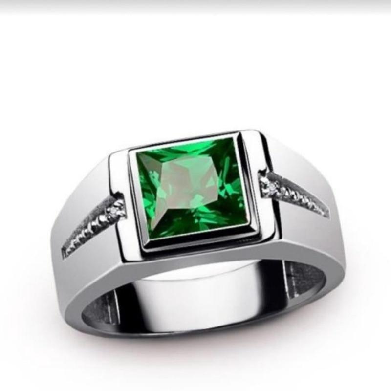 Новый Модный богемный Кристалл инкрустированное Кольцо мужское кольцо модное металлическое красное зеленое Кристальное инкрустированное...
