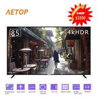 free shipping high quality 85 inch 4K HD android tv explosion proof smart tv led television with Remote control