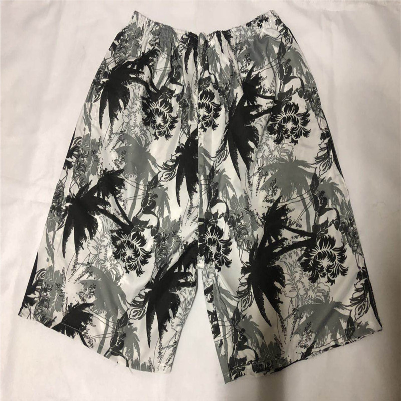 Men Printed Beach Shorts Loose-Fit Quick-Dry Short Large Size Casual Sports Drifting Large Trunks