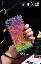 fashion female rainbow Sequin Shining bling Case For Iphone X Xs Max Xr 8 7 6 6s Plus hard Phone Cover Luxury Fundas plus Capa