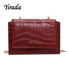Youda Spring New Fashion Retro Simple Chain Strap Shoulder Bag Classic Original Sweet Crossbody Tote Leisure Solid Color Handbag