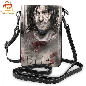 Image 1 - The Walking Dead Shoulder Bag The Walking Dead Leather Bag Multi Function Print Women Bags Crossbody Purse