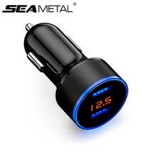 자동차 USB 충전기 담배 라이터 충전 전압 표시 빠른 충전기 자동차 12V 24V 빠른 충전 자동 어댑터 전기 액세서리