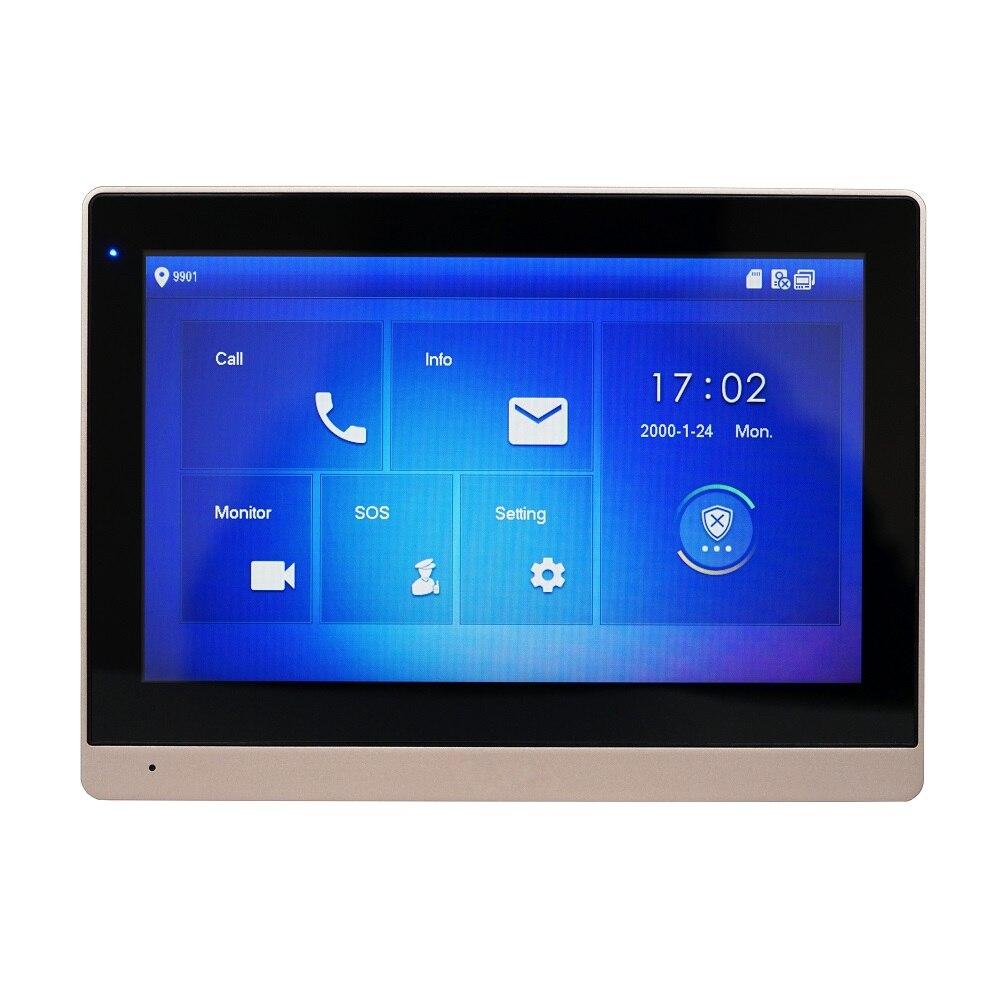 Dh logotipo multi-idioma vth1660ch 10 polegada toque monitor interno, ip campainha, vídeo porteiro, campainha com fio