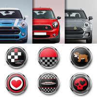 Car Styling Metallo 3D Paraurti Anteriore Griglia Emblema Distintivo Adesivo Per MINI Cooper JCW S One Countryman R60 R61 F56 f60 Accessori