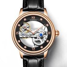 GUANQIN, новинка 2019, мужские часы, Топ люксовый бренд, автоматические светящиеся мужские s часы, полые турбийоны, водонепроницаемые механические часы montre hommeAA