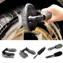 Beleza do carro hub escova de limpeza de pneus especiais escova interior floorliner tapete estofamento detalhando escova de fibra macia ferramentas de lavagem de carro