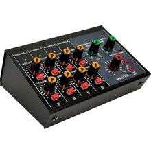 Console de mixage professionnelle table de mixage Portable 8 canaux à faible bruit avec effet de réverbération pour scène Live karaoké à domicile (prise ue)
