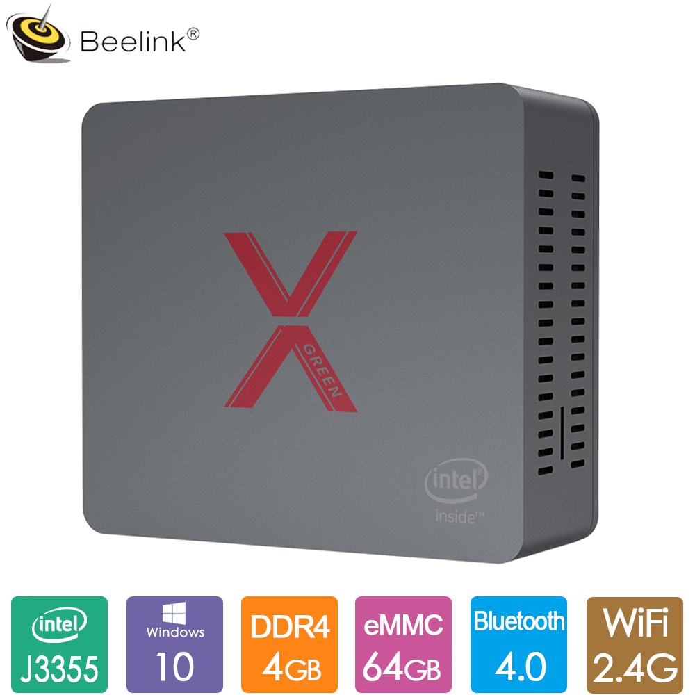 Original Beelink BT3-X Office Mini PC Intel Celeron J3355 Windows 10 Mini Computer 4GB LPDDR4 64GB EMMC BT4.0 RJ45 1000M