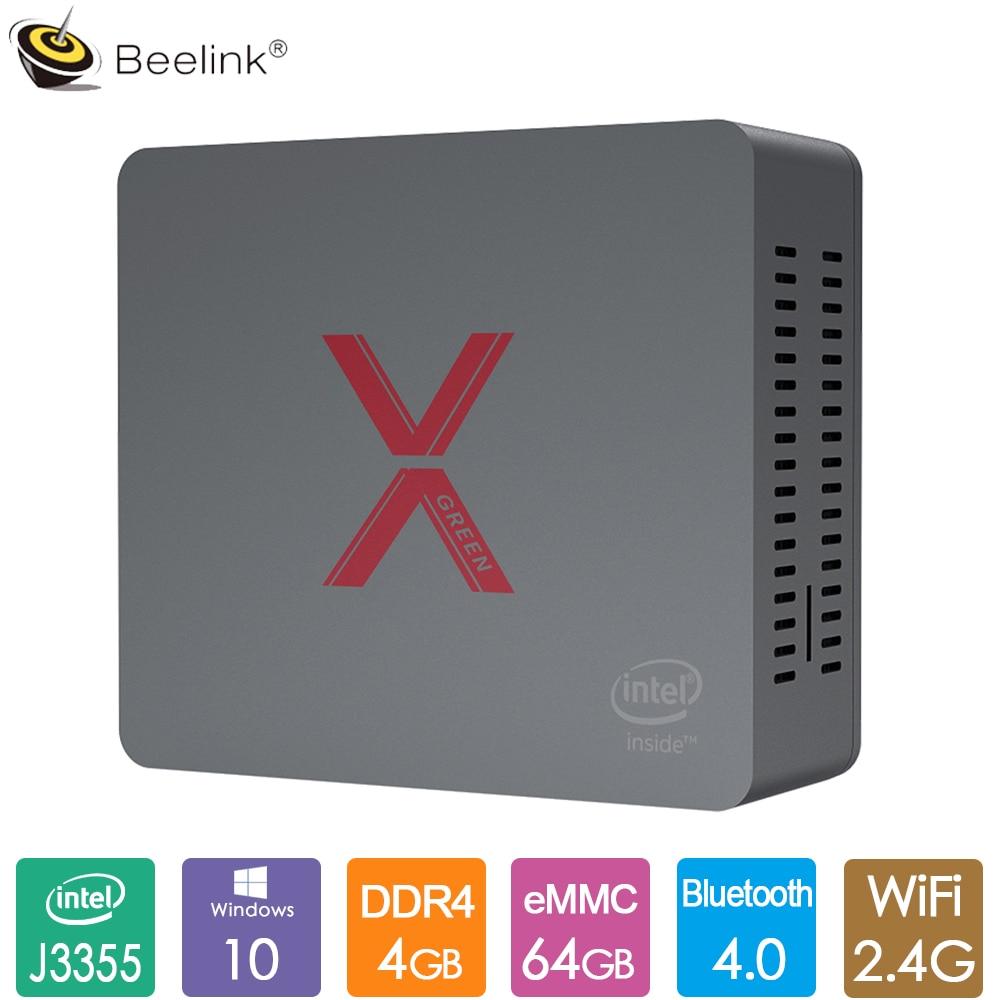 Original Beelink BT3-X Office Mini PC Intel Celeron J3355 Windows 10 Mini Computer 4GB LPDDR4 64GB EMMC BT4.0 RJ45 1000M