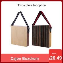 Cajon Boxdrum Travel Drum Accompaniment Music Boxdrum Percussion Instrument Solid Wood Portable with Strap