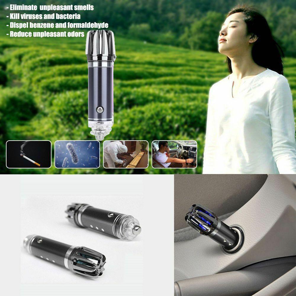 Dropshipping Mini Auto Car Fresh Air Ionic Purifier Oxygen Bar Ozone Ionizer Cleaner 12V Car Air Purifiers