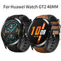 High Quality TPU + Leather WatchBand For HUAWEI WATCH GT 2 46mm/GT Active/huawei watch GT 2 pro Bracelet Band smart accessories