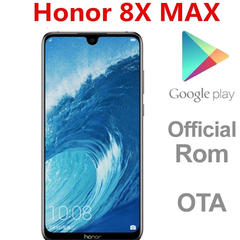 DHL быстрая доставка Honor 8X MAX 4G LTE Смартфон Snapdragon 660 6 ГБ ОЗУ 128 Гб ПЗУ 3 камеры 7,12