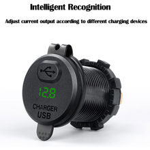 Car Charger USB Quick Car Charger 12-24V Boat Motorcycle Adapter Outlet With On/Off Switch(China)