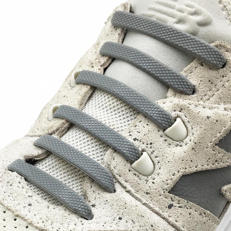 16pcs/lot Silicone Shoelaces No Tie Shoelaces 12 Colors Elastic Lace Shoelace Creative Lazy Silicone Laces Rubber Lace