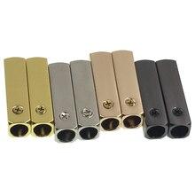 Weiou (20 шт./5 комплектов) зеркальные золотистые Серебристые Металлические аглетные наконечники для замены строки для обуви с отверткой