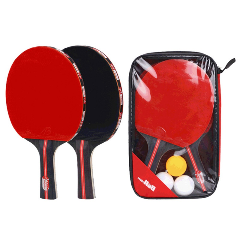 1 Pair Upgraded Carbon Table Tennis Racket Set Lightweight Powerful Ping Pong Paddle Bat For Adult Club Training 26x16CM