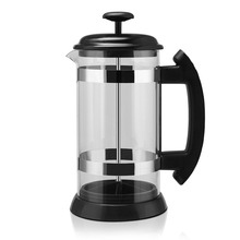 Glass French Press Stainless Steel Coffee Pot Hous