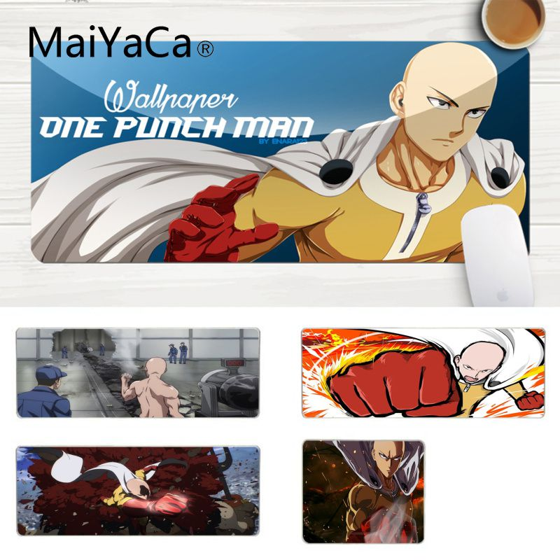 MaiYaCa Hot Sales One-Punch Man Keyboard Gaming MousePads Laptop Gaming Lockedge Mice Mousepad Gaming Mouse Pad