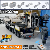 New MOC RC Crane Power Supply Functions LTM11200 Technic Engine MOC 20920 Building Kit Brick Blocks Diy Boys Toy Christmas Birth