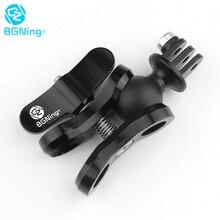 BGNing światła do nurkowania piłka motyl klip ramię mocowanie zaciskowe z ABS Ball podstawa Adapter do GOPRO Max 9 8 7 dla kamery AKASO EK7000