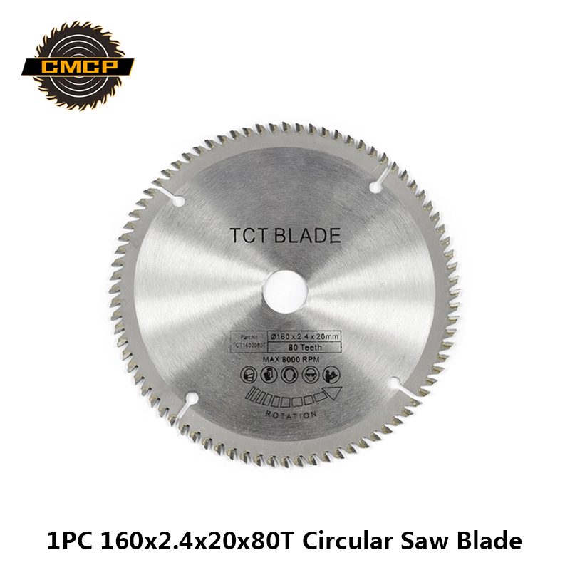 1pc 160x2.4x20x80T Saw Blade For Wood  Cutting Disc TCT Circular Saw Blade Saw Cutting Disc