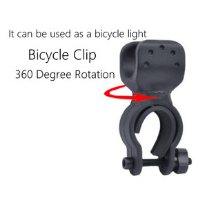 Image 5 - USB Rechargeable bicycle light LED Flashlight ZOOM Torch Zoomable Flashlight Camping Bicycle lamp + With Built in battery