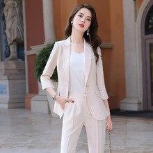 2020 New Female Formal Elegant Women Office Lady Pant Suits Business OL Blazer