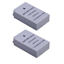 Durapro 2 PC 850mAh EN-EL24 EN EL24 ENEL24 batterie de caméra Rechargeable pour Nikon 1 J5 1J5 DL18-50 DL24-85 appareils photo numériques