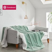 Sondeson Современное женское зеленое одеяло теплое волшебное