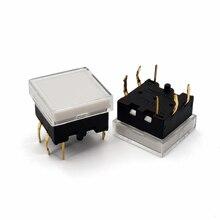 5 шт. TS12 серия 13,4*13,4 мм квадратный со светодисветодиодный, мгновенный сенсорный переключатель