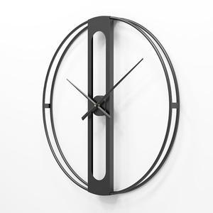 Image 2 - 북유럽 금속 벽시계 레트로 철 라운드 얼굴 대형 야외 정원 시계 홈 인테리어 벽시계 현대 디자인 reloj pared