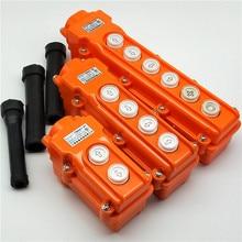 цена на Waterproof hoist push button switch crane switch TNHA1-COB-61 21 31 32 33 pendant controller 220v 380v