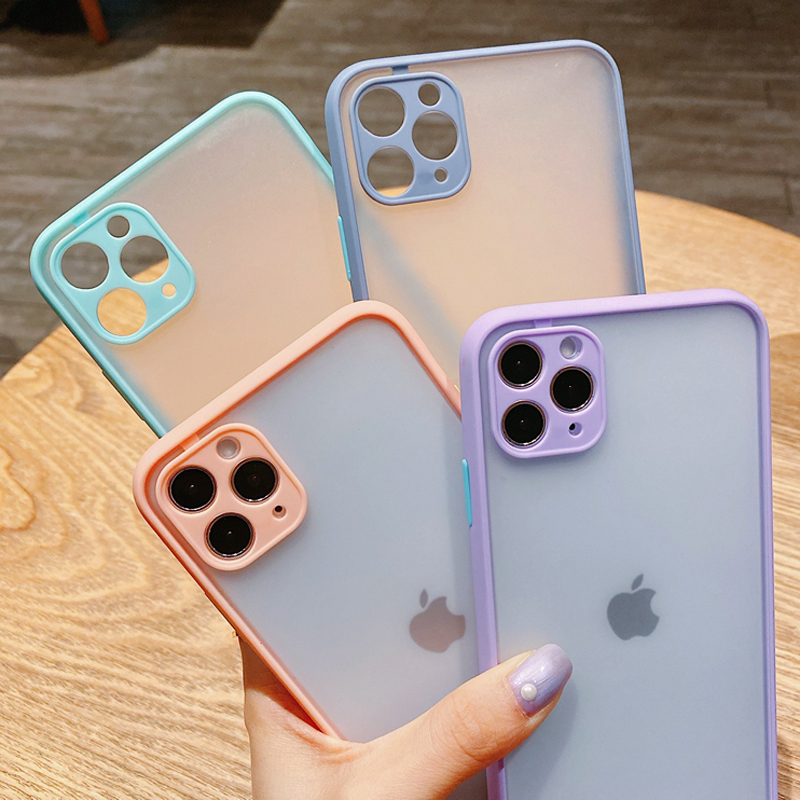 Full Protective Lens Case For iPhone 11 Pro Max XR XS X 7 8 Plus SE 2020 2 iPhone11 iPhonex Luxury Matte Shockproof Armor Covers
