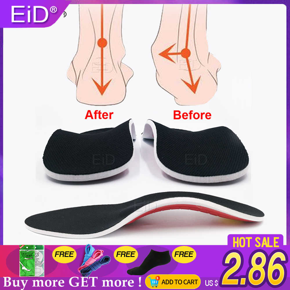 EiD Premium Orthotic Gel High Arch Support Insoles Gel Pad 3D Arch Support Flat Feet For Women / Men orthopedic Foot pain Unisex