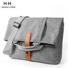 Bolsa masculina cinza leve estilo oxford, bolsa para laptop 13.1 polegadas ipad 9.7, de carteiro, pequena bolsa de mensageiro
