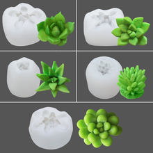 White Succulent Plant Flower Pot Silicone Mold Flowerpot Silicone Mold Cement Pot Making Mold Manual Clay Craft Cement Mold handmade flowerpot making silicone cement molds for clay concrete diy pot mold
