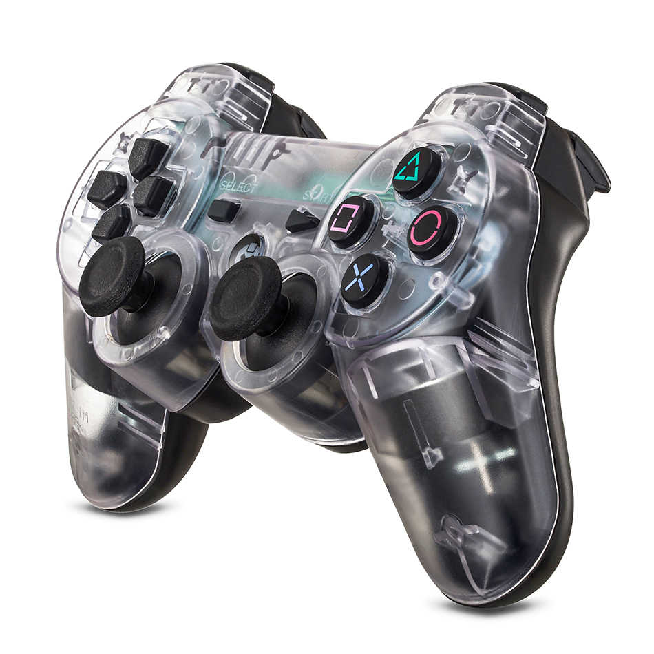 Controlador sem fio do jogo de bluetooth gamepad para sony ps3 playstation 3 sixaxis controle o joystick do pc com o punho antiderrapante dongle