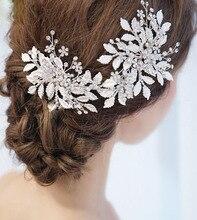 bridal diamond-leaved hair comb headdress wedding dress hair accessories accessories wedding accessories new arrival headwear