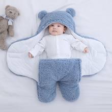 Śpiwór dla dziecka Ultra-miękkie puszyste polary noworodek kocyk dla niemowląt niemowlę chłopcy dziewczęta ClothesSleeping przedszkole kocyk do owijania