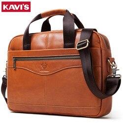 Горячий! Мужской портфель, сумка-мессенджер из натуральной кожи высокого качества, деловая сумка 14 дюймов для ноутбука