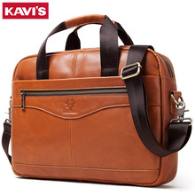 HOT! Men Briefcase Bag High Quality Business Famous Brand Genuine Leather Should
