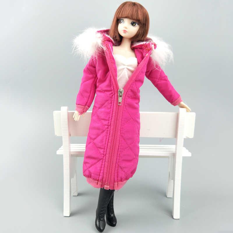 バラ色の冬服のためのバービー人形の服ドレスのため 1/6 BJD 人形ジャケット 1:6 人形アクセサリー子供おもちゃギフト