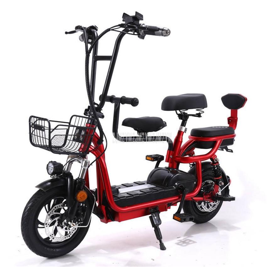 Mit Baby Sitz Mini Faltbare Elektrische Fahrrad Zwei/Drei Sitz Elektrische Fahrrad Anstelle von Wolking Stadt Ebike 48V 12Ah/15Ah/18Ah/20Ah